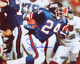 OJ Anderson Super Bowl XXV Rushing Autographed Photo (Hand Signed Collectable) Photo