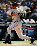 Derek Jeter Autographed Most Hits By A Shortstop Record 2674th Hit Collage Photograph Photo