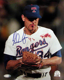 Nolan Ryan Autographed Blood Photograph Photo