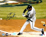 Scott Podsednik 2005 World Series Game Four Triple Autographed Photo (Hand Signed Collectable) Photographie