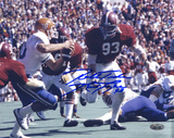Marty Lyons Rushing Color w/' Roll Tide' Insc Autographed Photo (Hand Signed Collectable) Photographie