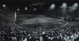Sandy Koufax Autographed Dodgers Night Game at Los Angeles Coliseum Photograph Photographie
