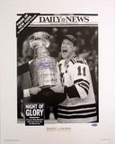 Mark Messier Autographed 94 Cup Replica Daily News Photograph Photo