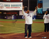 Doc Gooden Autographed 'Shea Goodbye' Wave To The Crowd Horizontal Photograph Photo