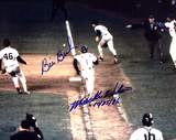 "Bill Buckner And Mookie Wilson Dual Autographed, Wilson Inscribed ""10-25-86"" Photograph Photo"