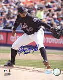 Orlando Hernandez Action Autographed Photo (Hand Signed Collectable) Photo