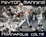 Peyton Manning Autographed Indianapolis Colts Horizontal Collage Photograph Foto