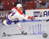Chris Chelios Autographed Canadiens Slap Shot Horizontal Photograph Photo