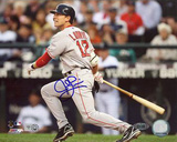 Jed Lowrie Autographed 2008 Road Batting Photograph Photo