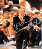 "Mike Brey Autographed ""Coach of the Year"" On His Knees On The Sidelines Signed Vertical Photo by Ph Photo"