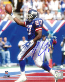 Rodney Hampton Autographed Giants TD Celebration Photograph Photo