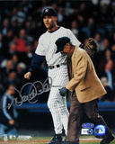 Derek Jeter & Rizzuto Autographed Walk Off Vertical Photograph Photo