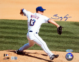 Billy Wagner Autographed Pitching Vs. Marlins Photograph Photo
