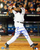 Cliff Floyd Autographed Two Run Home Run Vs. Atlanta Photograph Photo