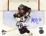 Martin St. Louis Autographed Playoff Goal vs DiPietro Photograph Photo