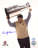 Scotty Bowman Autographed Cup Overhead Photograph Photo