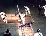 "Bill Buckner And Mookie Wilson Dual Autographed, Wilson Inscribed ""10-25-86"" Photograph Foto"