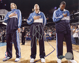 Jason Kidd Autographed First Game Back with Mavericks National Anthem Photograph Fotografía