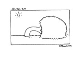 August - New Yorker Cartoon Premium Giclee Print by Charles Barsotti