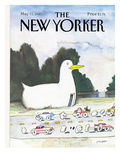 The New Yorker Cover - May 11, 1987 Regular Giclee Print by Saul Steinberg