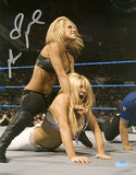 Michelle McCool WWE Action Autographed Photo (Hand Signed Collectable) Photo