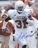 Aaron Ross Autographed University Of Texas Vertical Photograph Photo