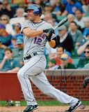 Jeff Franceour Hit Vs Cubs Autographed Photo (Hand Signed Collectable) Photo