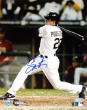 Scott Podsednik Autographed 2005 World Series Game Two Game-Winning HR Photograph (Side View) Photo