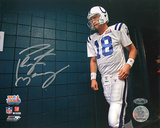 Peyton Manning Autographed SB XLI Walking Through the Tunnel Photograph Photographie