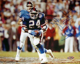 OJ Anderson Rushing Ball Giants Blue Jersey Autographed Photo (Hand Signed Collectable) Photo