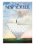 The New Yorker Cover - July 22, 1972 Premium Giclee Print by Saul Steinberg