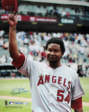"Ervin Santana ""No Hitter 7/27/11"" Angels Autographed Photo (Hand Signed Collectable) Photo"