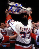 John Tonelli With Stanley Cup Autographed Photo (Hand Signed Collectable) Photo