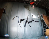 Tony Hawk Autographed 'Ollie Transfer' Photograph Photo