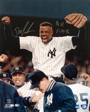 Dwight Gooden Autographed NY Yankees No Hitter Photograph w/ No Hitter Inscription Foto