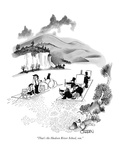 """That's the Hudson River School, son."" - New Yorker Cartoon Premium Giclee Print by Richard Oldden"