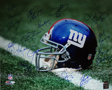 New York Giants Greats Multi Signed 'Helmet' Photograph - 16 Signatures Photographie