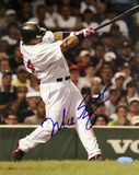 Manny Ramirez Autographed Vertical Swing Photograph Photo