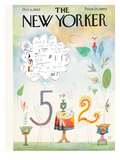 The New Yorker Cover - October 6, 1962 Premium Giclee Print by Saul Steinberg