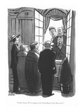 """Come along. We're going to the Trans-Lux to hiss Roosevelt."" - New Yorker Cartoon Premium Giclee Print by Peter Arno"