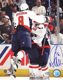 Mike Green Autographed Celebrating With Ovechkin Photograph Photo