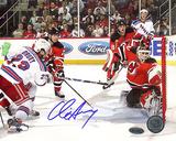 Chris Drury Autographed Game Tying Goal vs Devils Photograph Photo