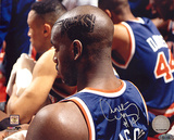Anthony Mason Autographed Side Head Shot Of Knicks Hair Cut Photograph Fotografa