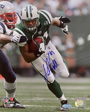 Dustin Keller Autographed Run After Catch vs Patriots Photograph Photographie
