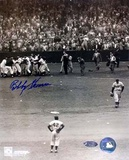 Bobby Thomson Autographed Photograph with Jackie Robinson Photo