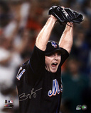 Billy Wagner Autographed NY Mets Arms Raised Photograph Photo