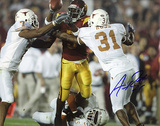 Aaron Ross Autographed University Of Texas Photograph Photographie