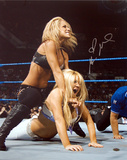 Michelle McCool Autographed Action Photograph Photo