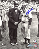 Yogi Berra Autographed With Babe Ruth Photograph Photo