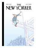 The New Yorker Cover - January 7, 2008 Regular Giclee Print by Istvan Banyai